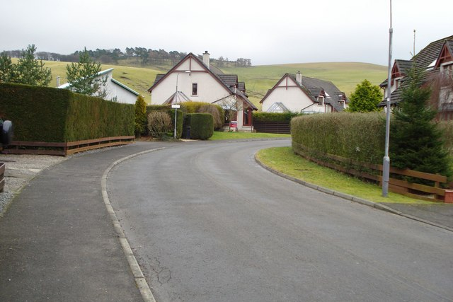 Housing estate in The Glebe, Eddlestone