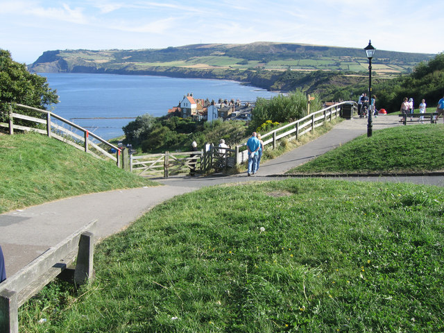 Robin Hoods Bay from top of Bay Bank