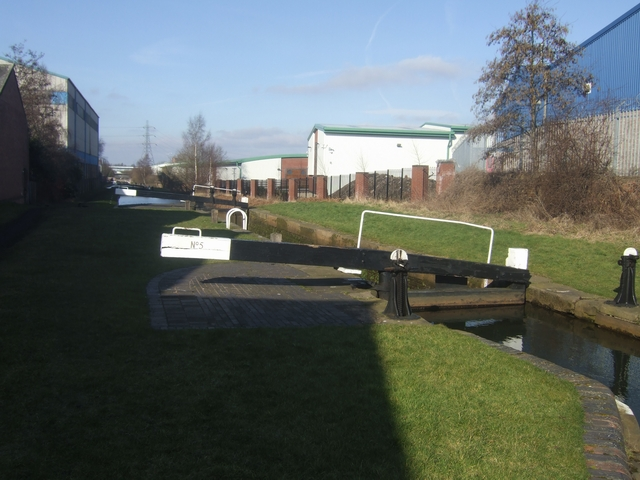 Ryder's Green Locks - Walsall Canal - Lock No 5