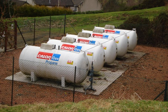 Propane gas cylinders at Eddleston