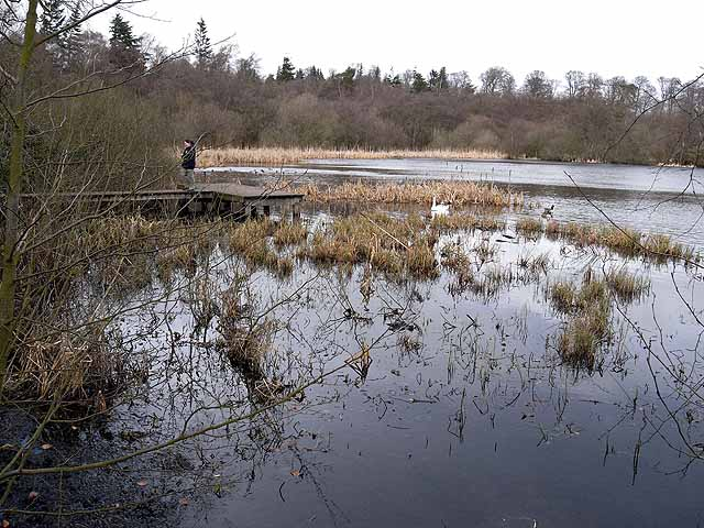 Landing stage on Bolam Lake