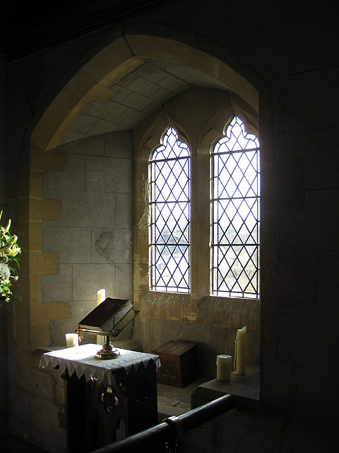 A sunlit corner of the chancel, St. Dingat's