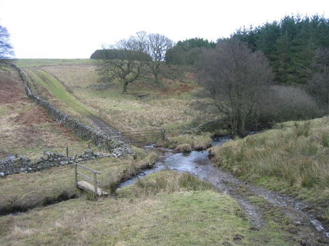 Ford and footbridge over the Risey Burn