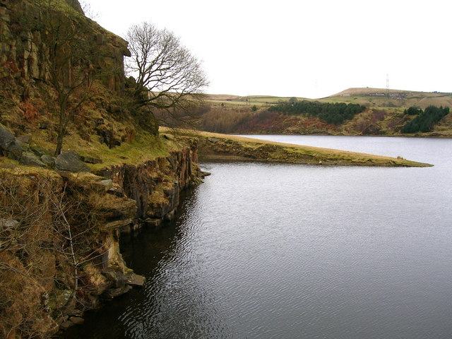 Greenbooth Reservoir: the old quarry edge