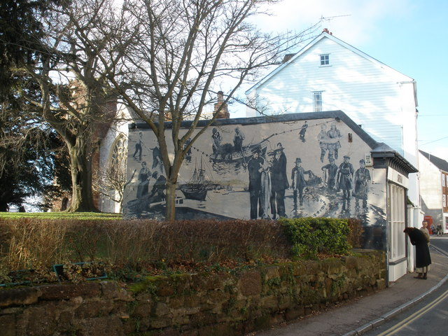 Topsham News Mural, in Fore Street