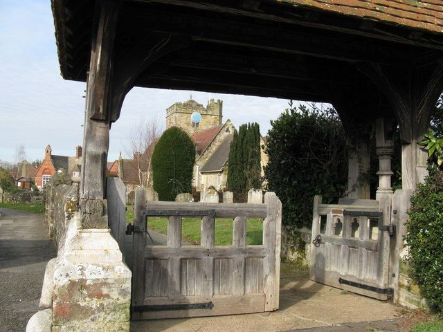 Church gate and porch