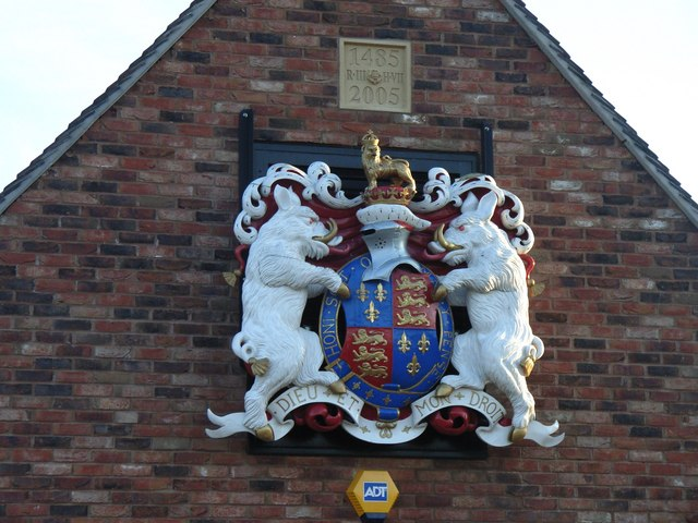 Coat of arms at Bosworth Battlefield Visitors Centre