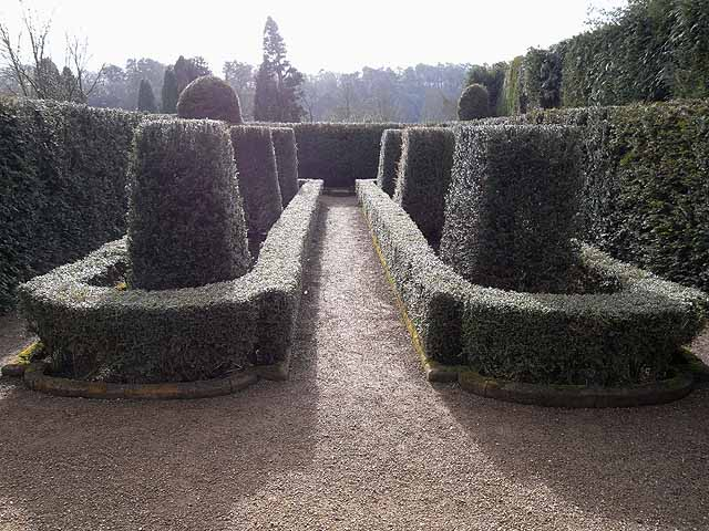 The Yew Garden at Belsay Hall