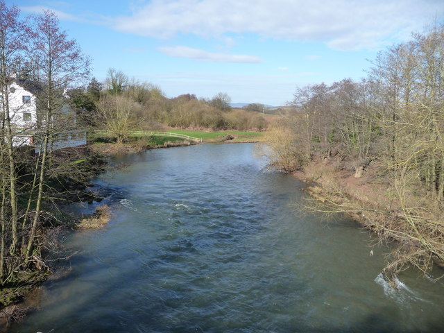 River Teme upstream from Stanford Bridge