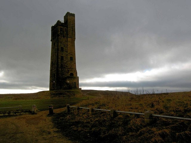 The Victoria Tower on Castle Hill Huddersfield
