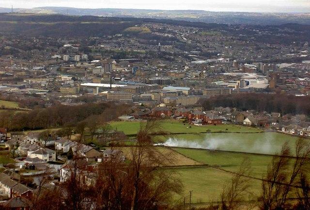 Huddersfield from Castle Hill