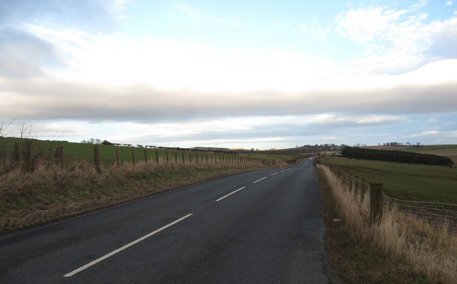 Looking towards the historic village of Smailholm