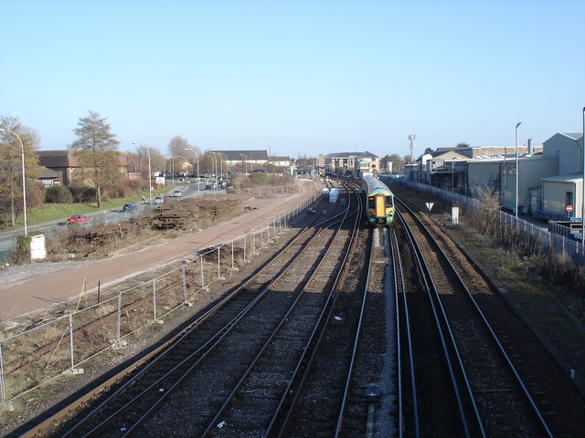 Chichester - view east from footbridge towards the station