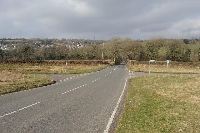 Cross roads looking towards Llannon