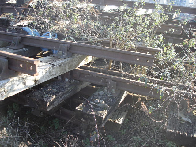 Chichester - old rails and sleepers near the railway line