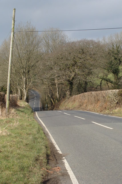 The B4306 towards Llannon
