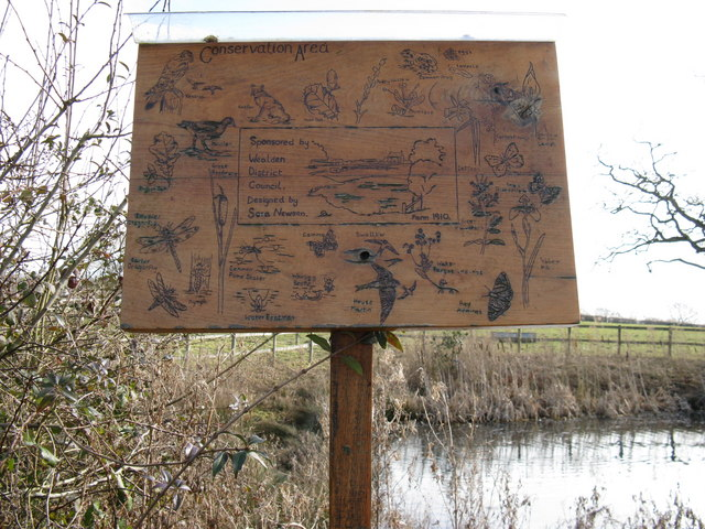 Conservation area information board