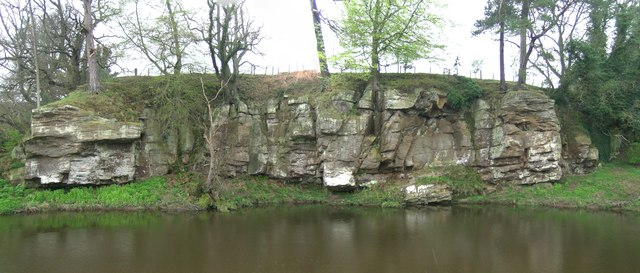 Morwick Crag from the north side of the River Coquet
