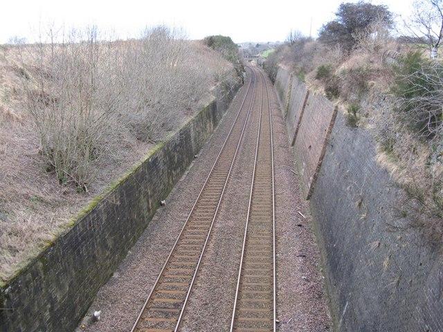 Edinburgh-Glasgow railway near Niddry