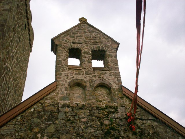 Above Western Doorway, Ciffig Church - Belltower?