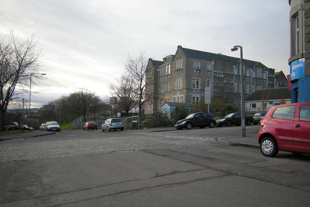 Watson Street, Dundee at its junction with Baffin Street and Baffin Terrace