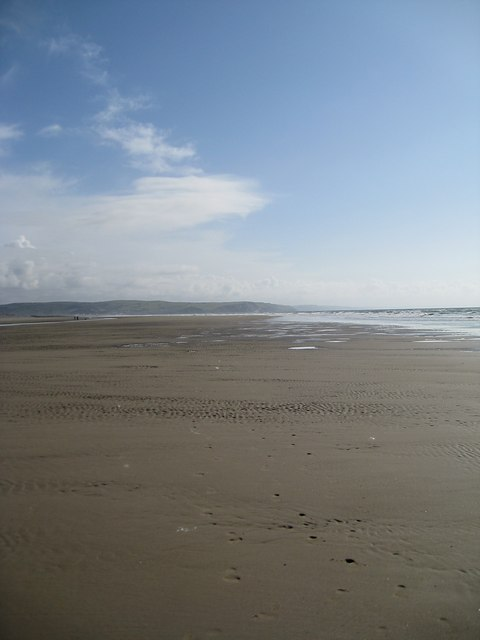 Looking along the sand bar