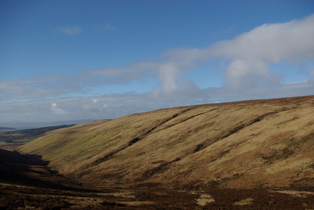 Northern slopes of Gleann Easbuig