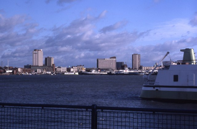 View of Portsmouth from Gosport (1984)