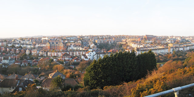 View over Clive Vale