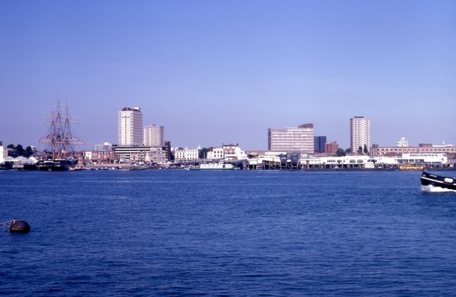 View of Portsmouth from Gosport (1995)