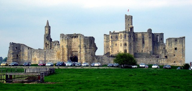 Warkworth Castle from the south