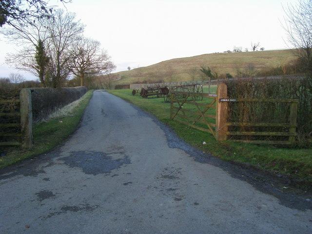 Entrance to Corble Farm