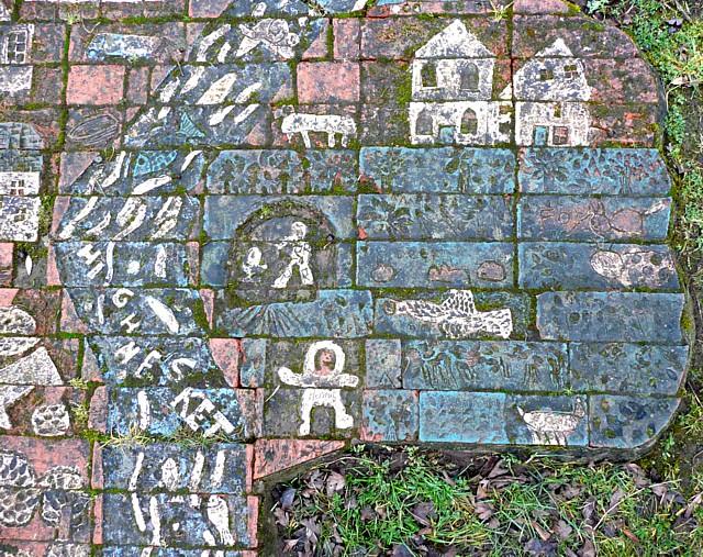 Detail from artwork by the footpath, Little Salkeld