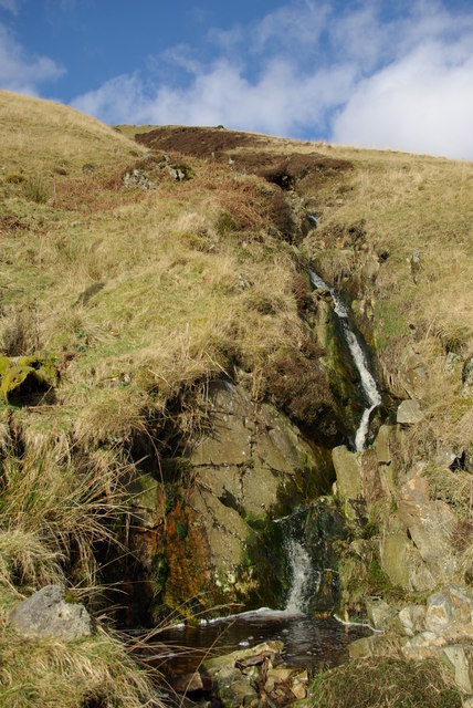 Waterfall on northern slopes of Gleann Easbuig