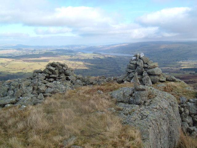 Summit cairns.