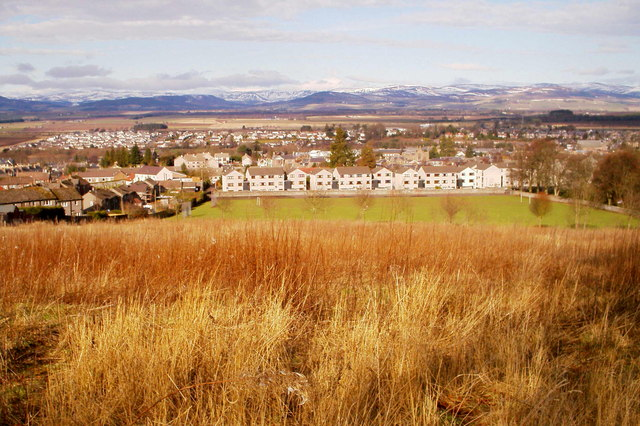 View of Steele Park, Forfar and housing beyond
