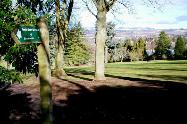 View of Reid Park, Forfar