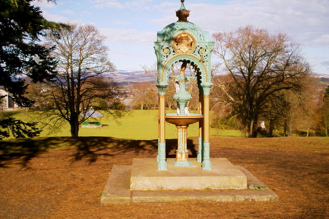 Fountain in Reid Park, Forfar