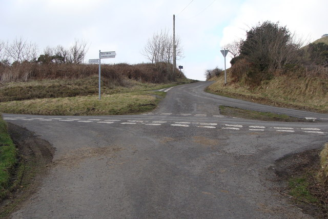Crossroads - and three ways out of the road opposite