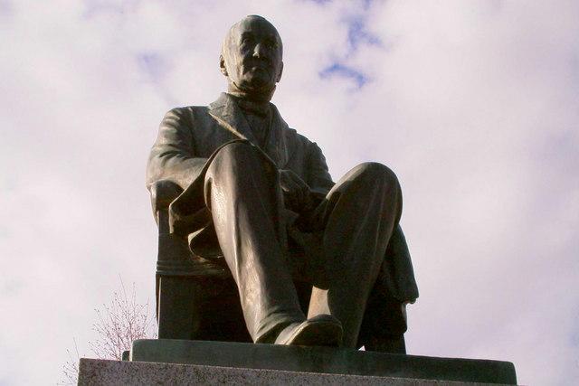 Peter Reid Statue in Reid Park, Forfar