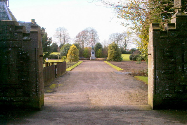 View of the entrance to the Reid Park, Forfar, from Hillside Road
