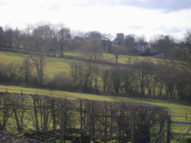 Across the fields to Beckley Church