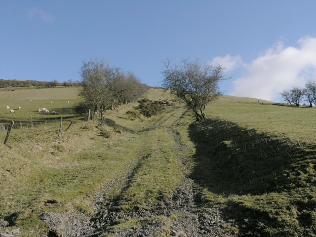 Mountain track-way up to Pegwn Bach