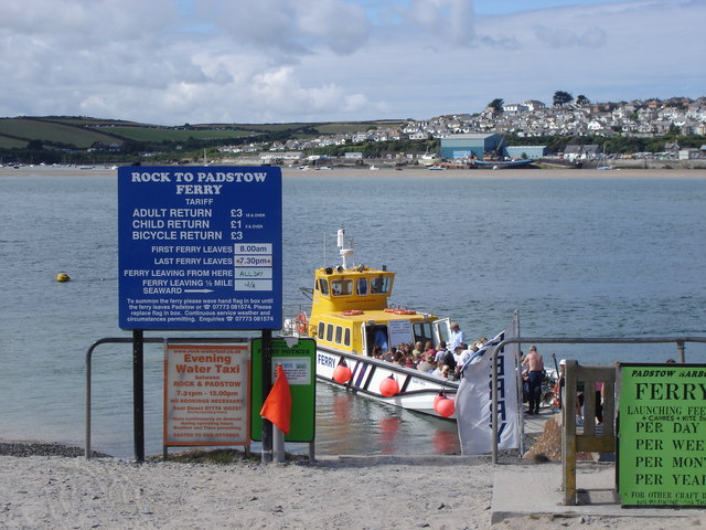 Rock - fares and times for the Padstow ferry