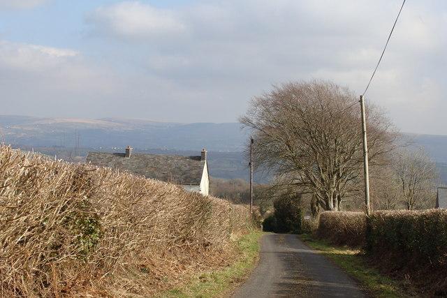 Approaching Llwydcoed-fach
