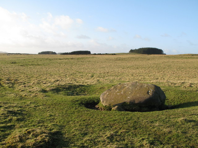 Lonely rock on Walwick Fell (2)