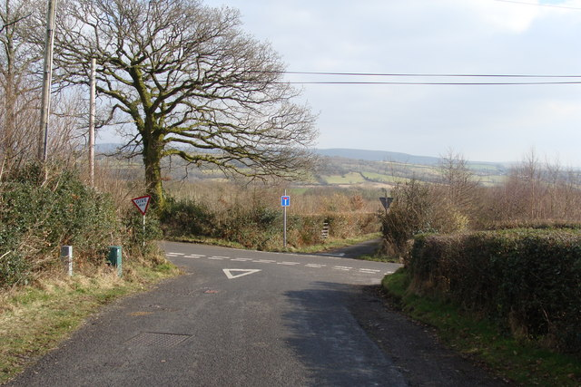 Crossroads at Rhos-fach