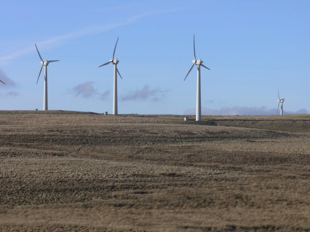 Wind turbines on Waun Las