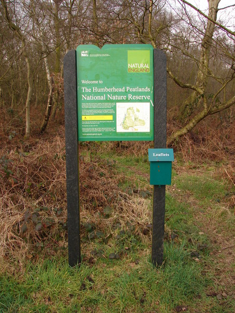 Information Board at Humberhead Peatlands NNR