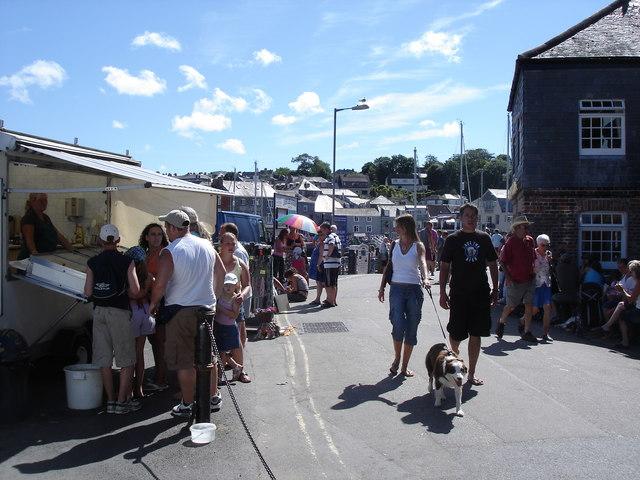 Padstow - street scene near the harbour